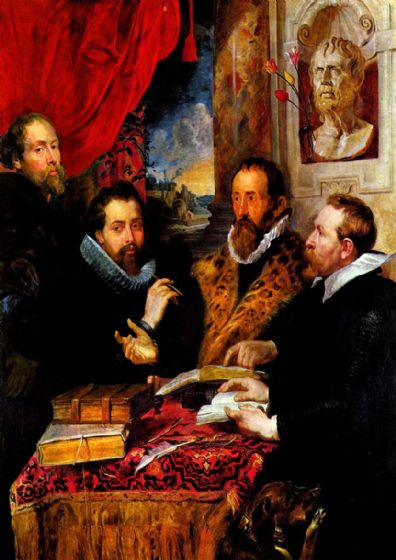 Rubens, Peter Paul: The Four Philosophers. Fine Art Print/Poster. Sizes: A1/A2/A3/A4 (001213)